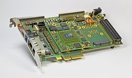 Photograph: PAtools FPGA Board for the integrated highspeed simulation within PAtools TX