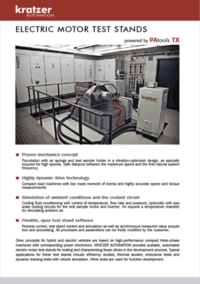 Electric motor test benches by kratzer automation for Electric motor testing equipment
