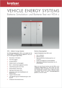 Vehicle Energy Systems - Batterie-Simulation und Batterie-Test mit VES 3