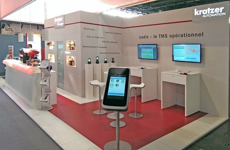 Key visual: Impressions of the KRATZER AUTOMATION booth at SiTL 2014