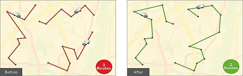 Keyvisual: Route optimisation
